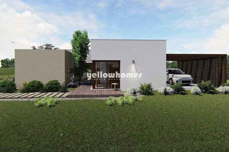 Contemporary villa under construction on a golf resort in Silves